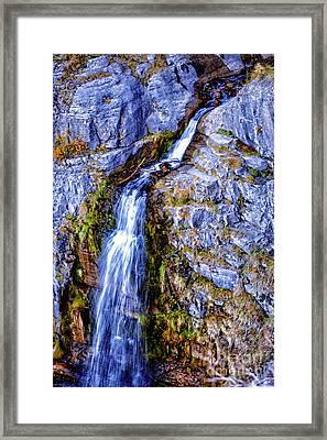 Waterfall-mt Timpanogos Framed Print