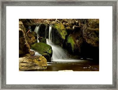 Waterfall - Naramata Dsc0043 Framed Print