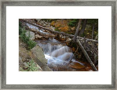 Waterfall Near Breckenridge Framed Print