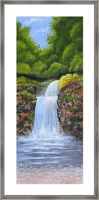 Waterfall Framed Print by Nirdesha Munasinghe