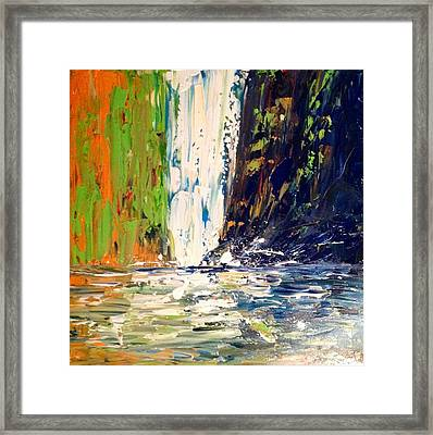 Waterfall No. 1 Framed Print