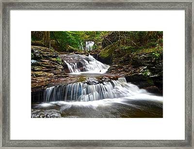 Waterfall Oasis Framed Print by Frozen in Time Fine Art Photography