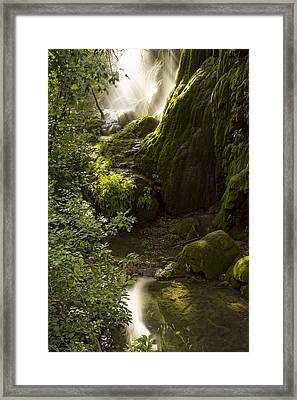 Waterfall Of Light Framed Print by Jonathan Davison