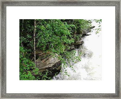 Waterfall Framed Print by Oleg Zavarzin