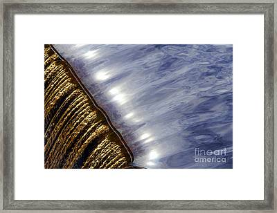 Waterfall Framed Print by Olivier Le Queinec