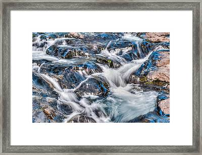 Waterfall On Mt. Rainier Framed Print
