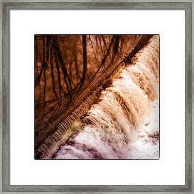 Waterfall On The Assabet River Framed Print by Patrick Garner