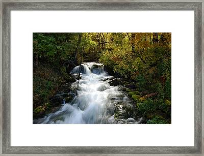 Waterfall On The Little Spearfish Iv Framed Print