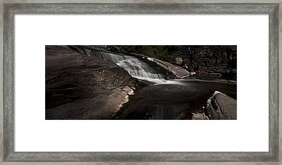Waterfall Panoramic Framed Print by Michael Murphy