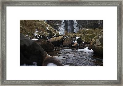 Waterfall Framed Print by Riley Handforth