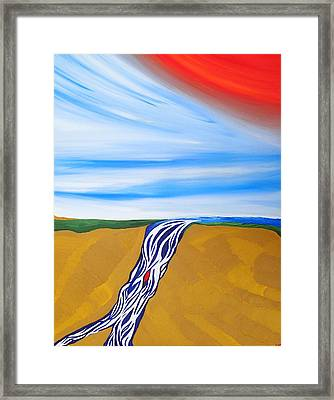 Waterfall Framed Print by Robert Nickologianis