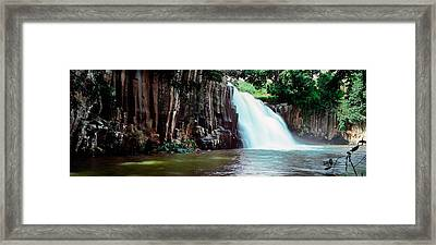 Waterfall, Rochester Falls, Mauritius Framed Print