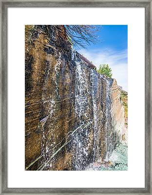 Waterfall Framed Print by Rohit Nair