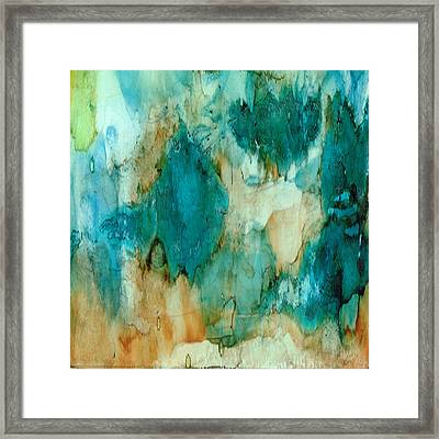 Waterfall Framed Print by Rosie Brown