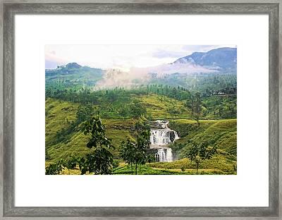 Waterfall Framed Print by Sanjeewa Marasinghe