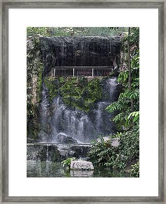 Waterfall Framed Print by Sergey Lukashin