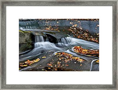 Waterfall Simplicity Framed Print