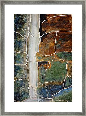 Waterfall Slate Framed Print