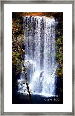 Waterfall South Framed Print by Susan Garren