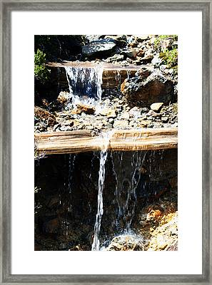 Waterfall Steps Framed Print
