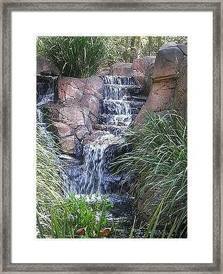 Waterfall Steps Framed Print