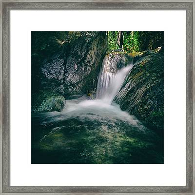 Waterfall Framed Print by Stelios Kleanthous