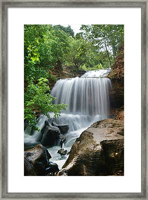 Waterfall Tanyard Creek Arkansas Framed Print by Tim Fitzharris