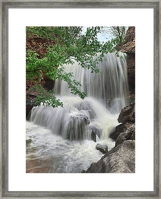 Waterfall Tanyard Creek Bella Vista Framed Print by Tim Fitzharris