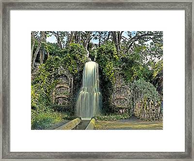 Waterfall Framed Print by Terry Reynoldson