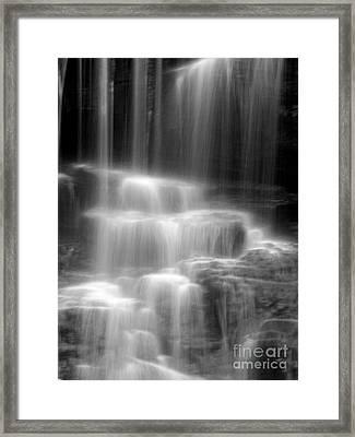 Waterfall Framed Print by Tony Cordoza