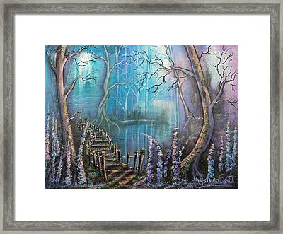 Waterfall Valley Framed Print