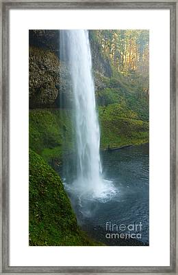 Waterfall View Framed Print