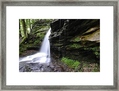 Waterfall Webster County West Virginia Framed Print by Thomas R Fletcher