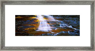 Waterfall, Wentworth Falls, Weeping Framed Print by Panoramic Images