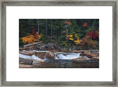 Waterfall - White Mountains - New Hampshire Framed Print