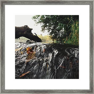 Framed Print featuring the photograph Waterfalls Beginnning by Nikki McInnes