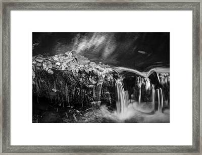 Waterfalls Childs National Park Painted Bw   Framed Print