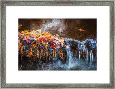 Waterfalls Childs National Park Painted  Framed Print