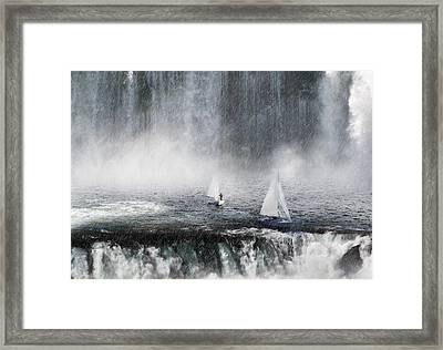 Waterfalls Edge Framed Print