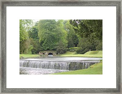 Framed Print featuring the photograph Waterfalls - Fountains Abbey  by David Grant