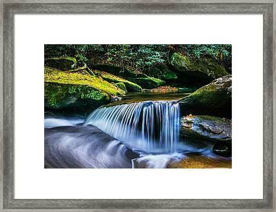 Waterfalls Great Smoky Mountains  Framed Print by Rich Franco