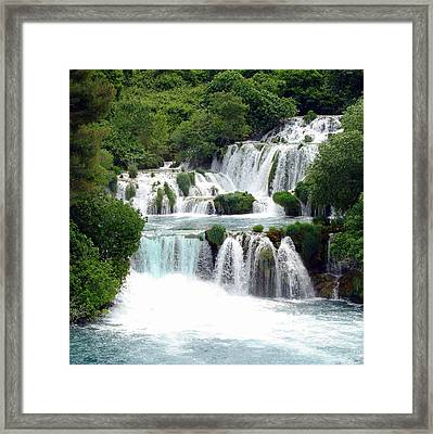 Waterfalls Of Plitvice Framed Print