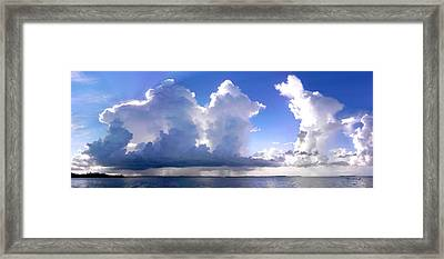 Waterfalls Over Florida Bay Filtered Framed Print