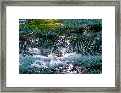 Waterflow Framed Print by Dennis Bucklin