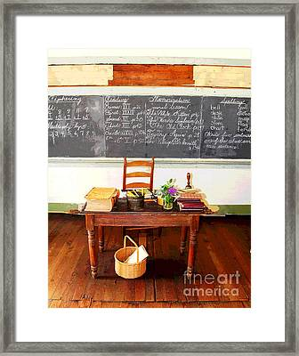 Waterford School Teacher's Desk Framed Print by Larry Oskin
