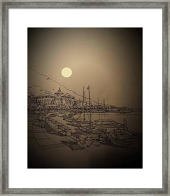 Waterfront Framed Print by Andrew Drozdowicz