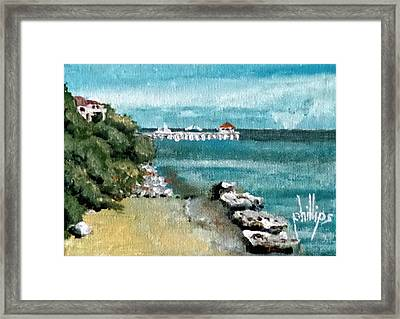 Waterfront At Southport Framed Print