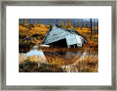 Waterfront Cottage Framed Print by Barbara D Richards