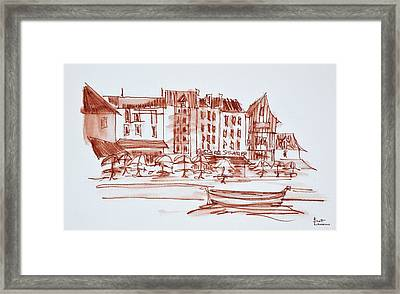 Waterfront Dining, Concarneau Framed Print