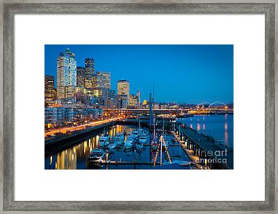 Waterfront Enchantment Framed Print by Inge Johnsson